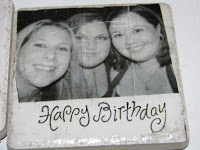 Homemade Happy Birthday photo coaster