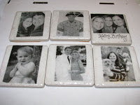 6 Photo Coasters - Homemade with black and white photos