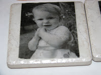 Homemade  photo coaster - photo of little girl
