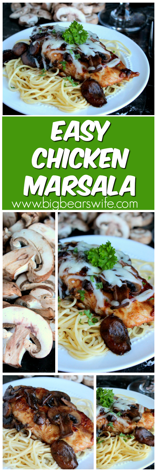 Easy Chicken Marsala Collage