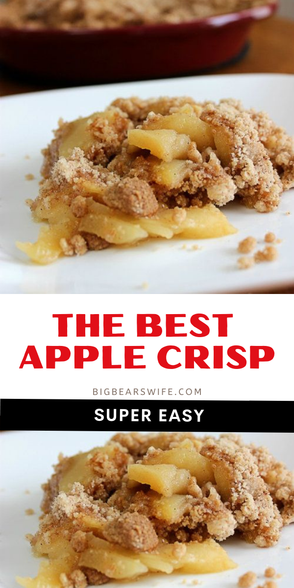 This is the best apple crisp recipe that we've ever made! It's a family favorite and I make it for almost every holiday and family gathering!