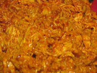 Chicken and Rice Burrito Filling