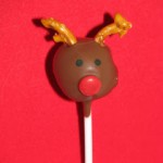 Rudolph the Red Nosed Cake Pop