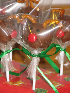 Rudolph Cake Pops Packaged Up for Christmas