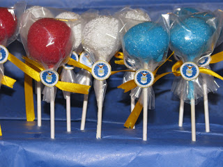 Red White and Blue Troop Thank You Cake Pops