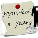3rd Wedding Anniversary and Chicken Marsala