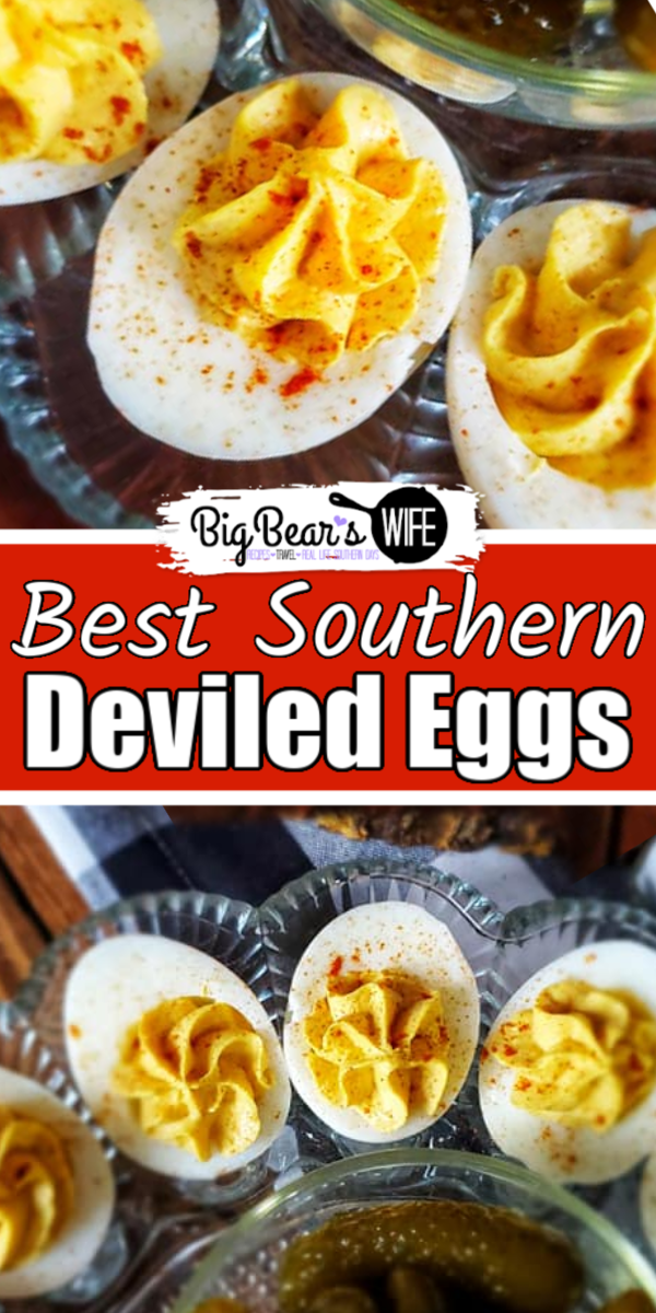 This recipe right here is for the Best Southern Deviled Eggs that I make for holidays! They're perfectly creamy and taste just like the Deviled Eggs grandma use to make