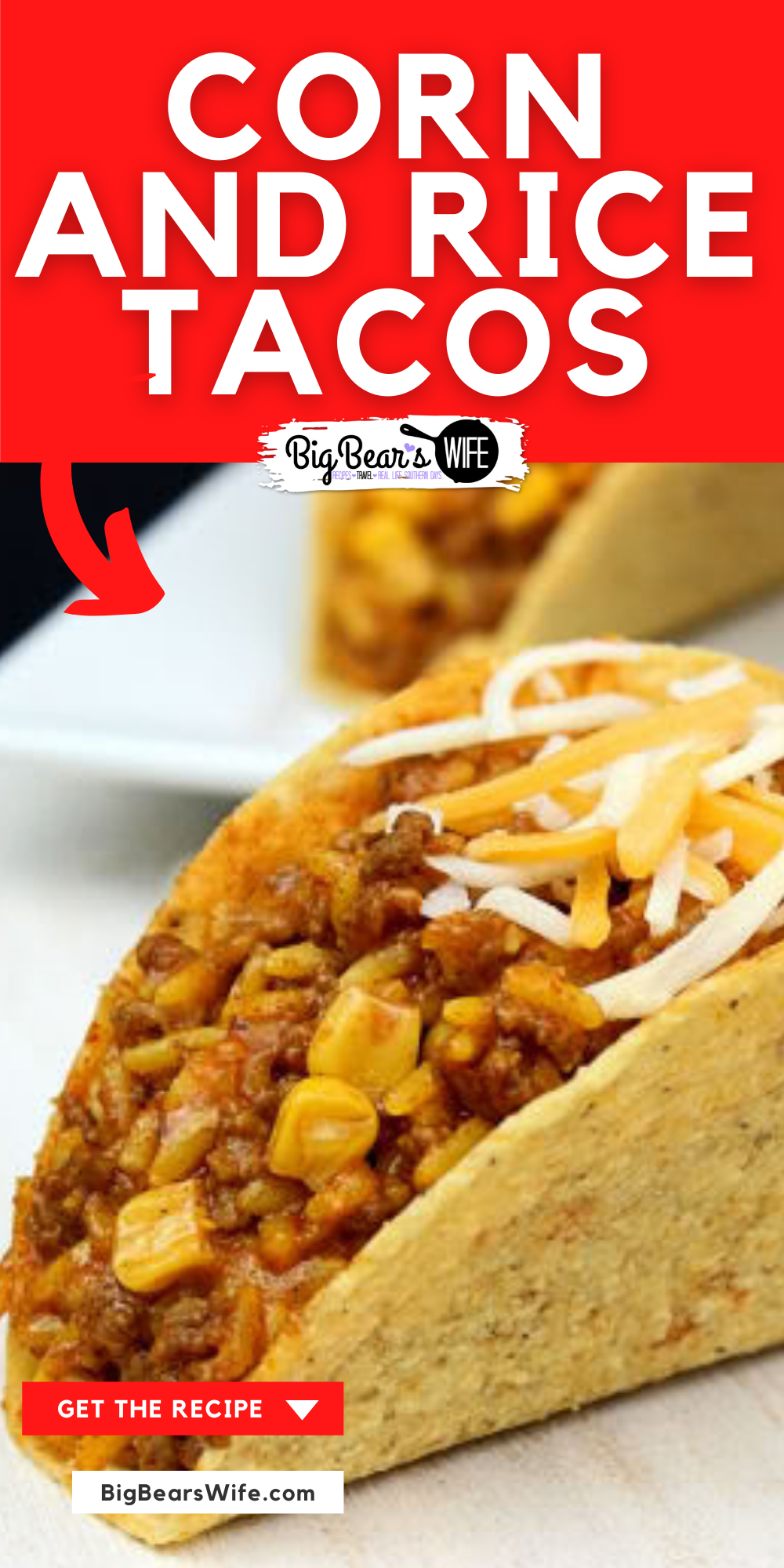 An easy dinner idea that's a favorite in our house! Corn and Rice Tacos are made of beef, taco mix, corn and cheese! Super simple and always delicious! 