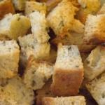 Garlic Chive Parmesan Croutons