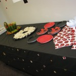 Lady Bug Party Food Tables