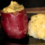 Red Mashed Potato Cups