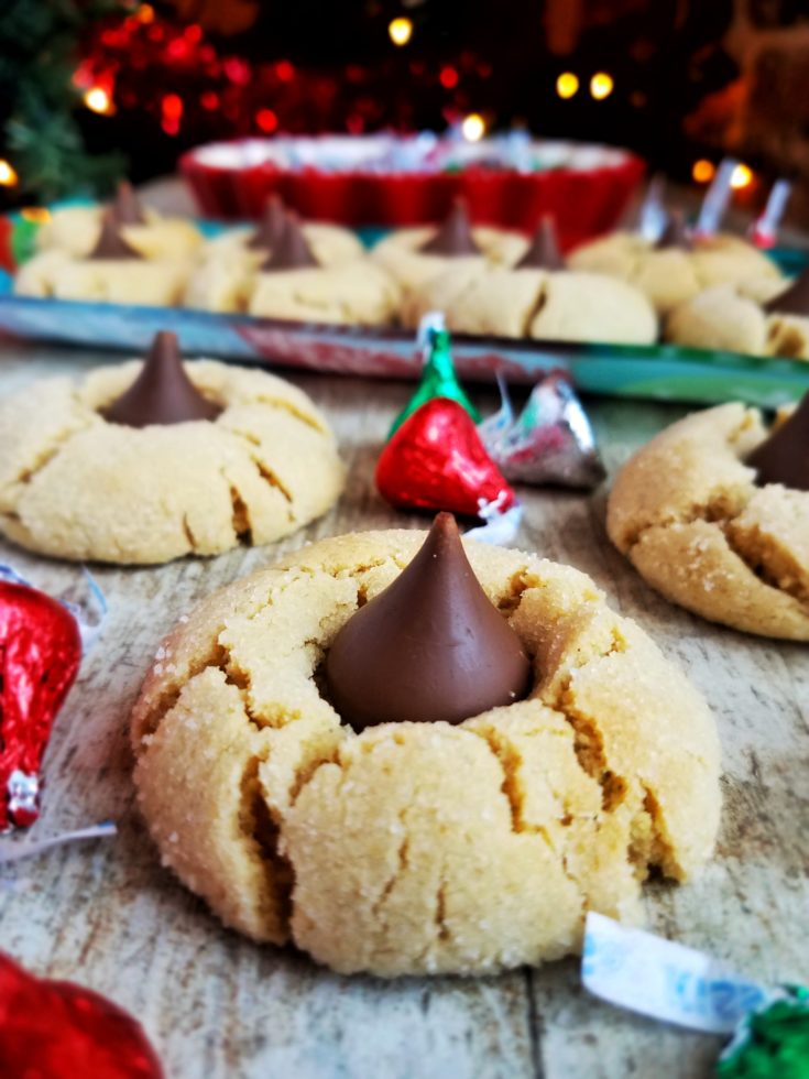 Peanut Butter Blossoms - Chocolate Kiss Peanut Butter Cookies