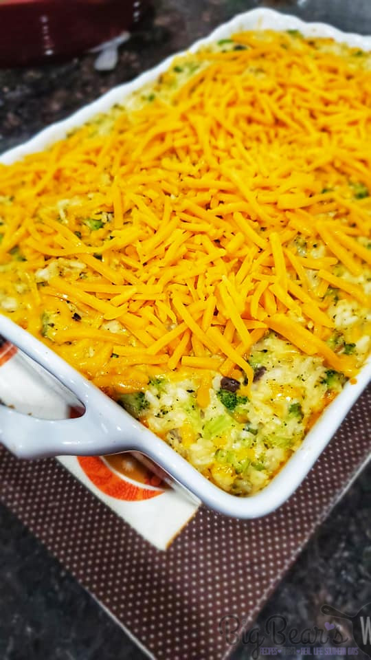 Top Broccoli Casserole with cheese