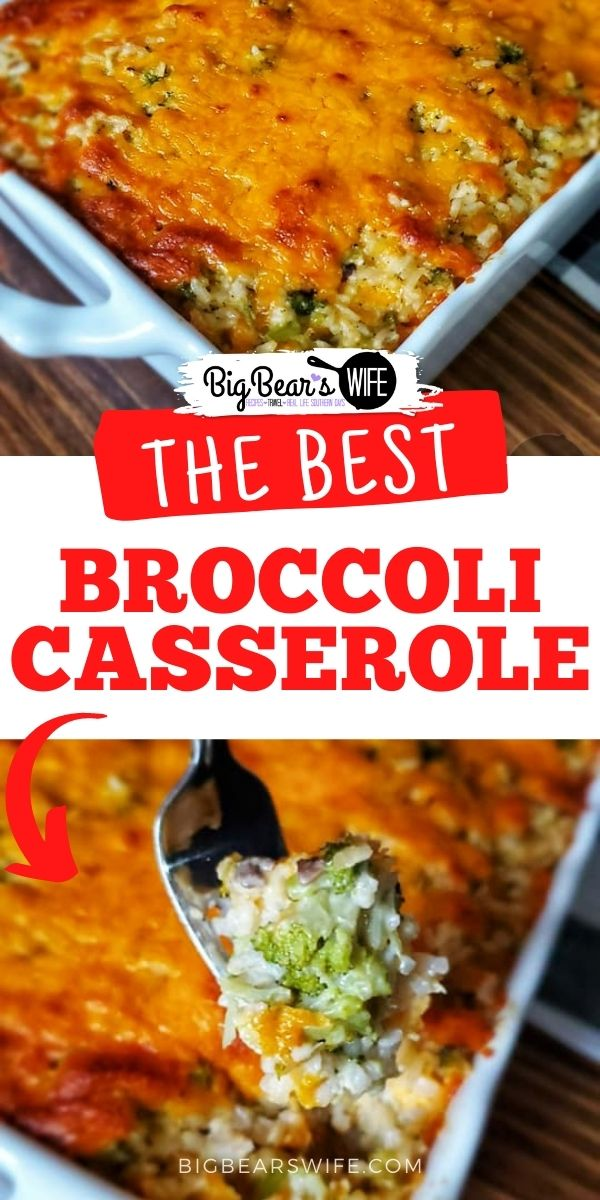 Ma's Broccoli Casserole recipe was handed down to me by my grandmother and it's always on the table for every holiday and party around here! I'll show you how I make it so that you can add it to your favorites list too! This broccoli casserole is made with broccoli, cheese, rice, soup and seasonings.  via @bigbearswife