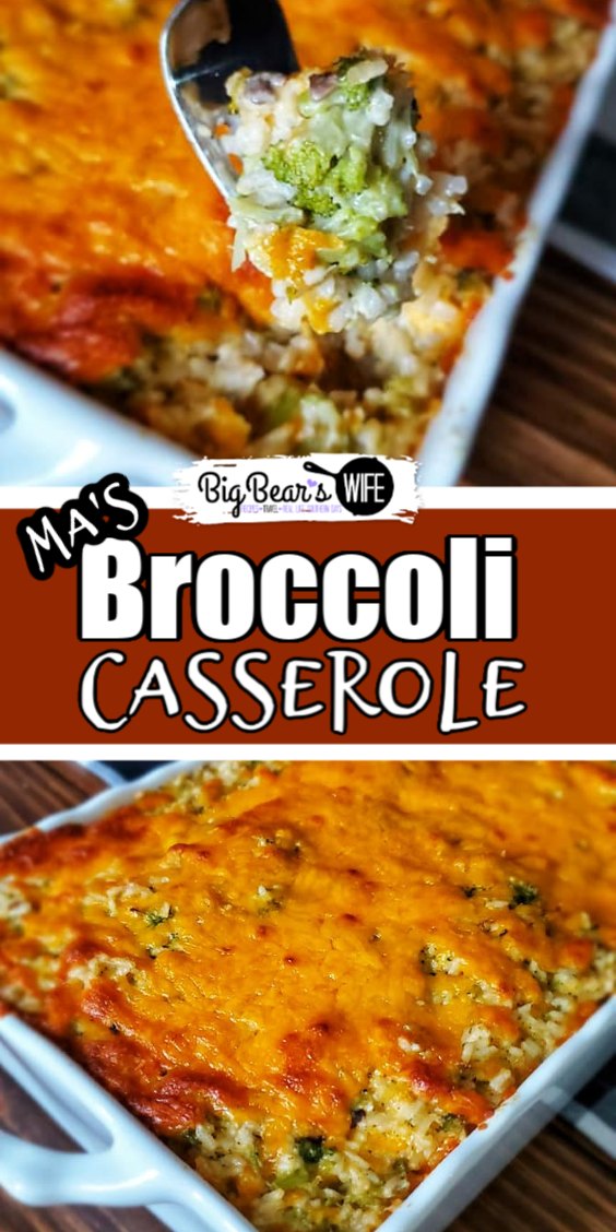 Ma's Broccoli Casserole - Ma's Broccoli Casserole recipe was handed down to me by my grandmother and it's always on the table for every holiday and party around here! I'll show you how I make it so that you can add it to your favorites list too!