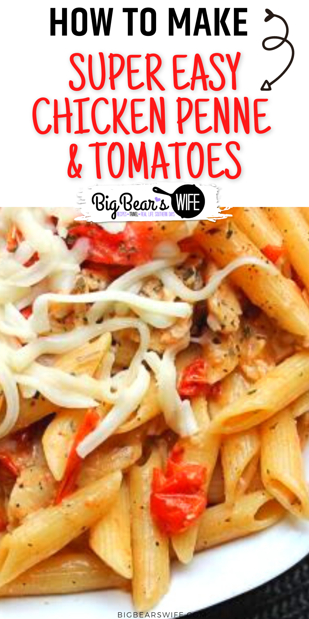 This Super Easy Chicken Penne & Tomatoes is a Pampered Chef Grilled Chicken Penne al Fresco Recipe that I got from a friend years ago. It is a great easy dinner recipe!!
