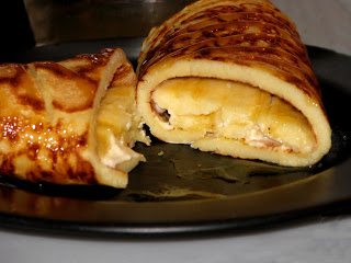 Banana Caramel & Cream Cheese Crepes
