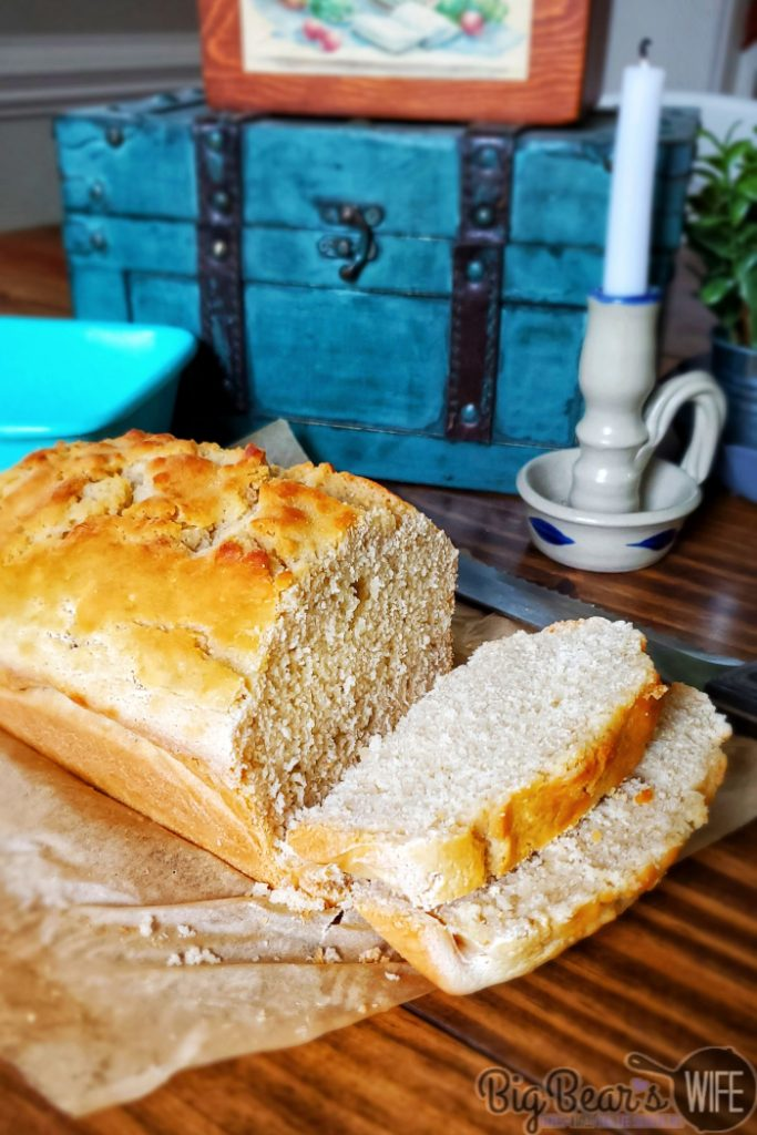 Homemade Beer Bread - Need a bread recipe that doesn't need a packet of yeast in order to make it? Welcome Homemade Beer Bread to the club! It's easy to make, doesn't require proofing time and only takes 4 ingredients to make!