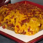 BBQ Bacon Stuffed Meatloaf