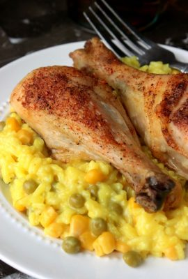 Roasted Chicken Leg Arroz Con Pollo