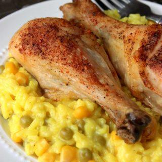 Roasted Chicken Leg Arroz Con Pollo