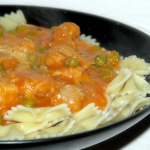 Chicken with Peas, Parmesan and Vodka sauce