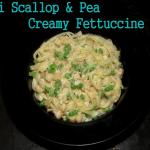 Mini Scallop & Pea Creamy Fettuccine