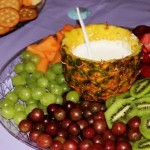 Fruit Tray with Orange Marshmallow Fluff Dip