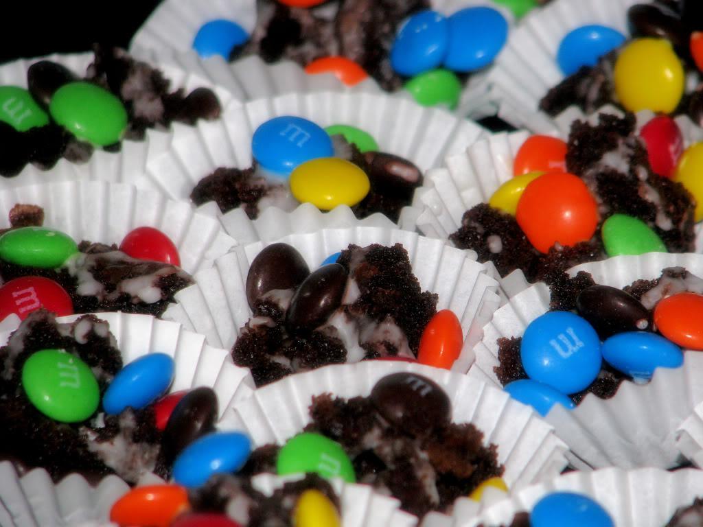 M&M Brownie Bites