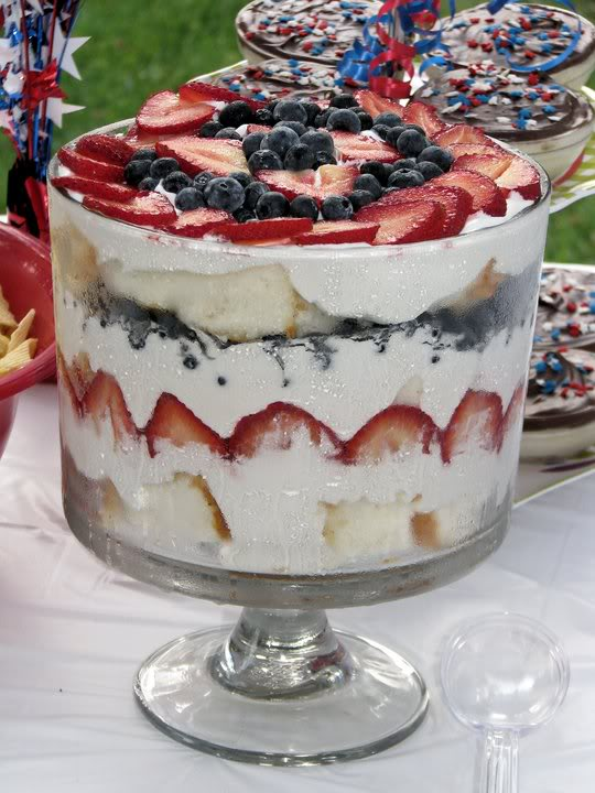 Strawberry and Blueberry Trifle