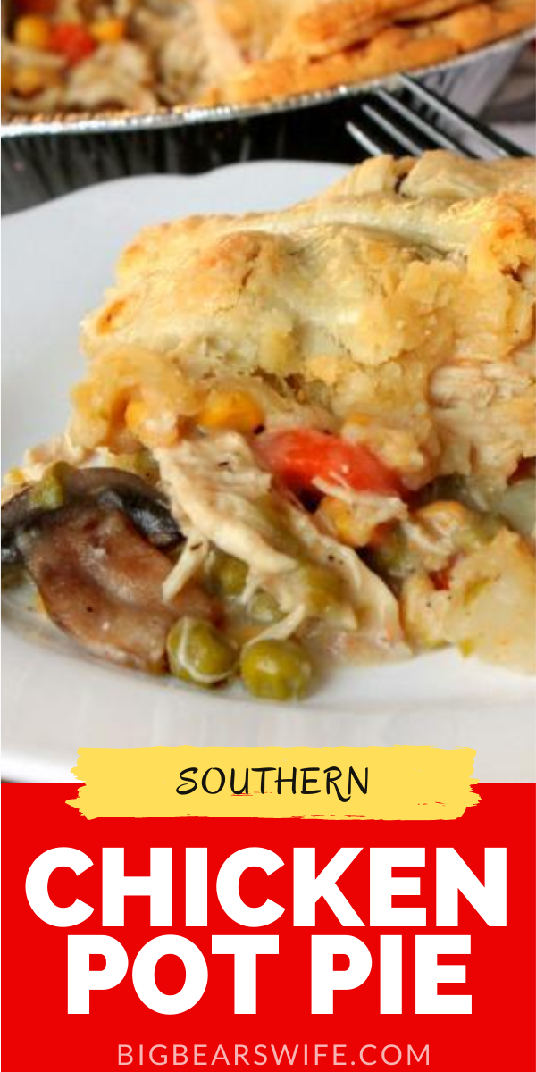 Ready to make a Southern Chicken Pot Pie for dinner? GREAT! This recipe will make TWO Chicken Pot Pies, one for dinner tonight and one for the freezer!