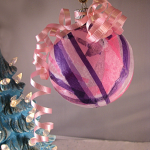 Mod Podge Tissue Paper Ornaments