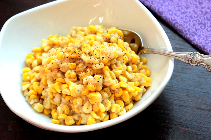Homemade Skillet Creamed Corn