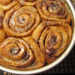 Cinnamon Buns Glazed with Vanilla Coffee Infused Icing