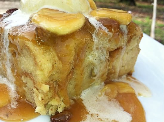 Ohana pineapple banana bread pudding with banana caramel sauce pineapple banana bread pudding with banana caramel sauce forumfinder Images