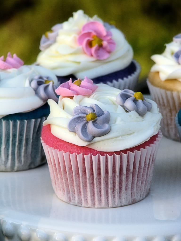 Pastel Flower Cupcakes Big Bears Wife