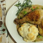Rosemary Drumsticks and Gravy with Biscuits