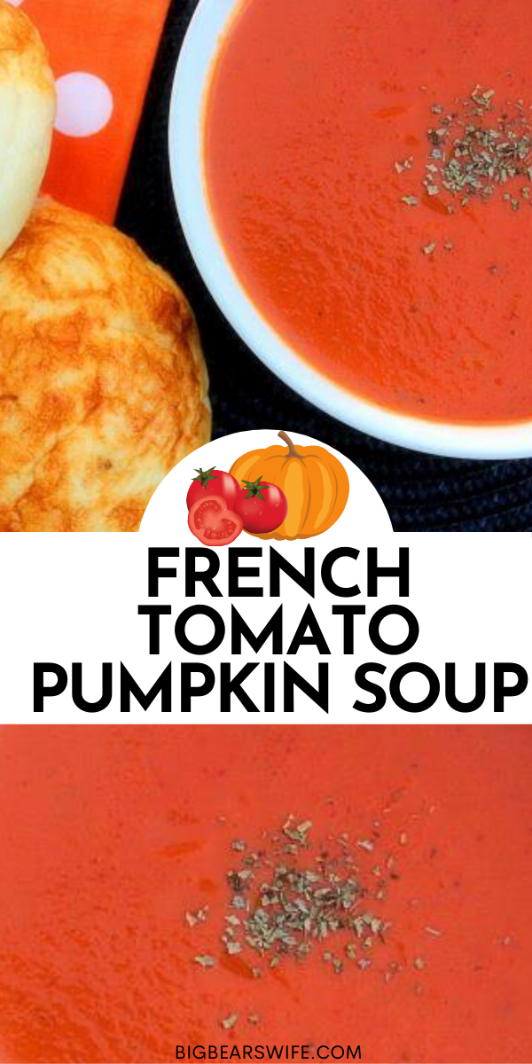 This French Tomato Pumpkin Soup is a recipe that was given to me by a friend! It's a popular soup in Wichita. via @bigbearswife