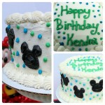 Two Layer Chocolate Cake with Buttercream Icing { Mickey Mouse Cake }