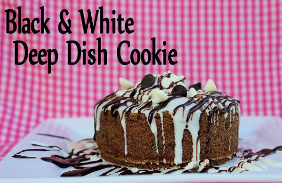 Black & White Deep Dish Cookies