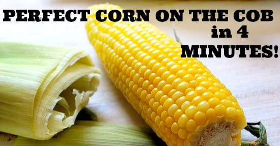 4 Minute Steamed Corn on the Cob