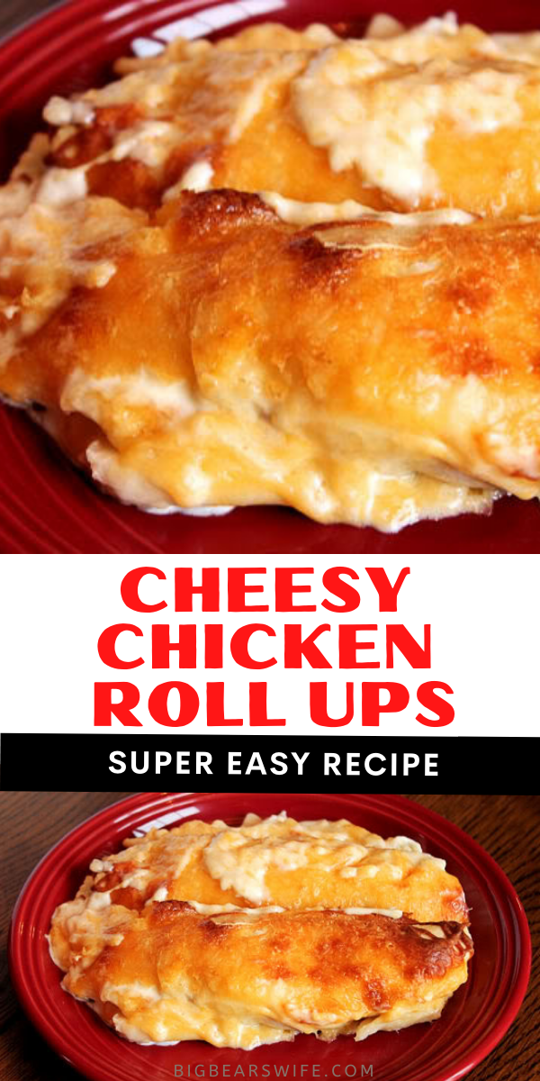 These easy Cheesy Chicken Roll Ups remind me of cheesy chicken enchiladas! The're easy to make and super delicious!    via @bigbearswife