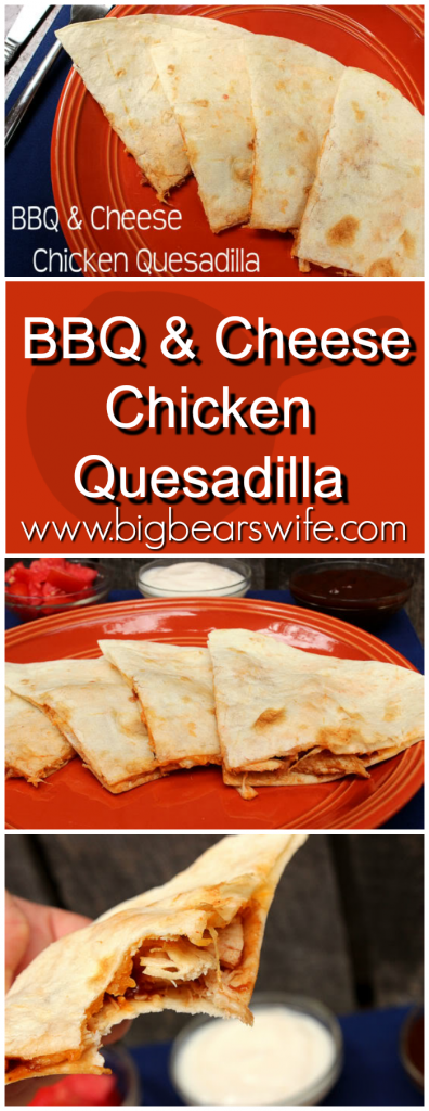 BBQ & Cheese Chicken Quesadilla