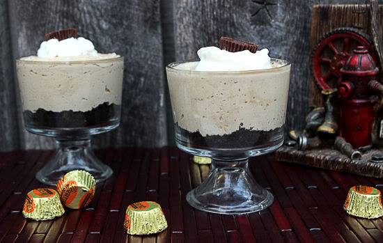 Mini No Bake Peanut Butter Cheesecakes