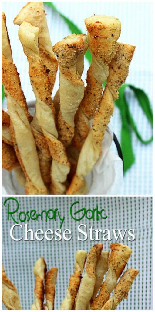 Rosemary Garlic Cheese Straws
