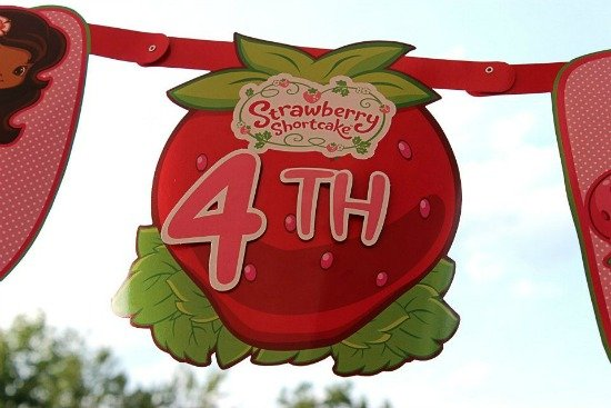 Strawberry ShortCake 4th Birthday Banner