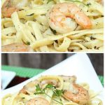 Shrimp Scampi with Homemade Garlic Toast #sundaysupper