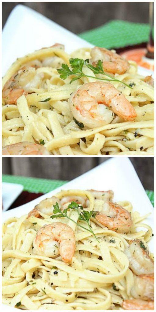 Shrimp Scampi with Homemade Garlic Toast