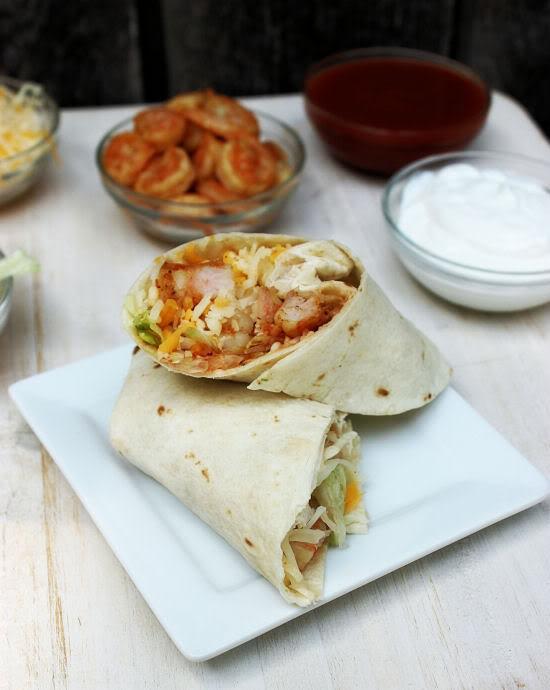 Spicy Shrimp Fajitas from www.BigBearsWife.com