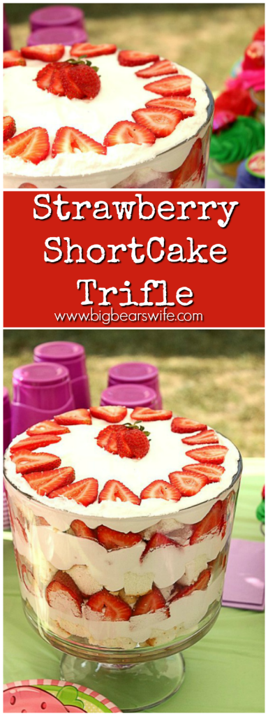 Strawberry ShortCake Trifle -